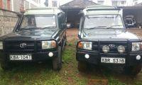 Four wheel drive safari vehicles