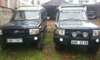 Four wheel drive safari vehicles
